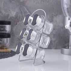 Karl 7-Piece Spice Jar and Rack Set