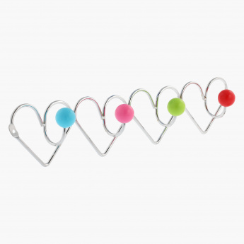 Hearts Kids 4-Hooks Rack