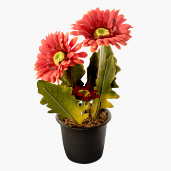 Ardor Decorative Pot with Flower - 28 cms