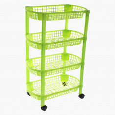 Vega 4-Layer Kitchen Rack with Wheel