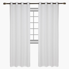 Indus Sheer Curtain Pair - 140x240 cms