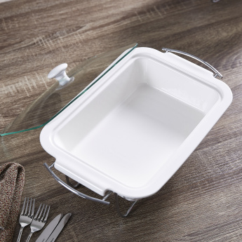 Supreme Rectangular Casserole with Lid - 38 cms
