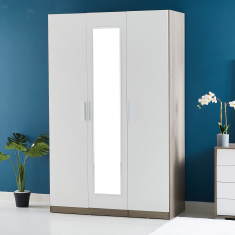 Cathy 3-Door Teens Wardrobe with Mirror