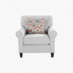Angelic Oakwood Sofa with 1 Pillow