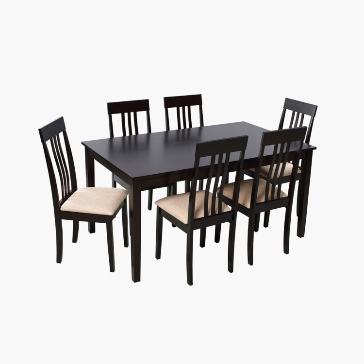 Alwan 6 Seater Dining Table Set Beige