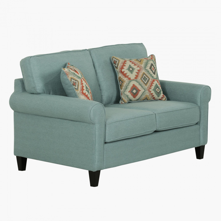 Angelic Oakwood 2-Seater Sofa with 2 Pillows