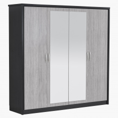 Emotion New 4-Door Wardrobe with 2 Mirrors