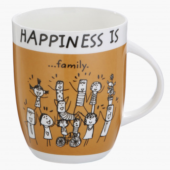 Happiness is Family Printed Mug -355 ml
