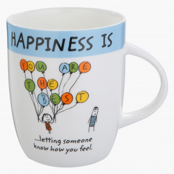 Happiness is You Printed Mug - 355 ml