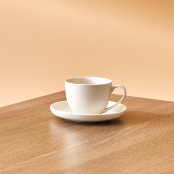 Crimsson Cup and Saucer