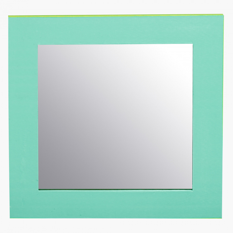 Posh Mirror Frame 25x25 Cms Green