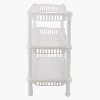 Saga 3-Tier Mini Bath Rack - 26.5x18.5x34 cms
