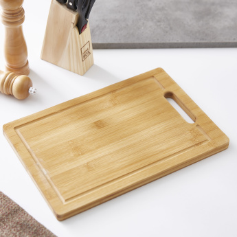 Bamboo Cutting Board with Cutout Handle
