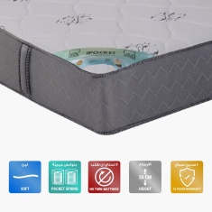 iPocket Queen Size Pocket Spring Mattress - 150x200x26 cms