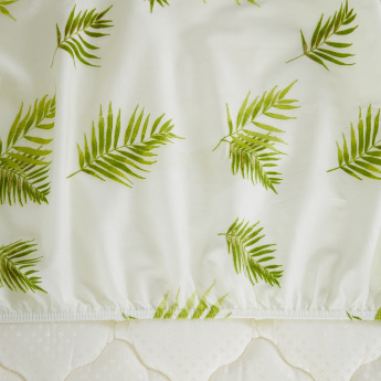 Botanic Leaf Printed King Fitted Sheet - 180x200 cms