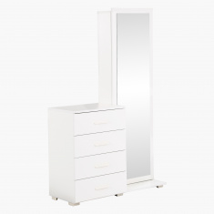 Oslo 4-Drawer Tall Dresser with Mirror