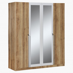 Lamo 4-Door Wardrobe with 2 Mirrors