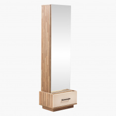 Parkay Floor Standing Mirror with Jewellery Cabinet