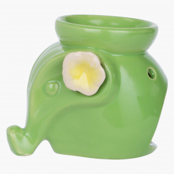 Decorative Floral Embellished Elephant Oil Burner
