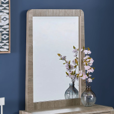Curvy Rectangular Mirror without Dresser