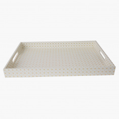 Orion Printed Rectangular Tray with Handles
