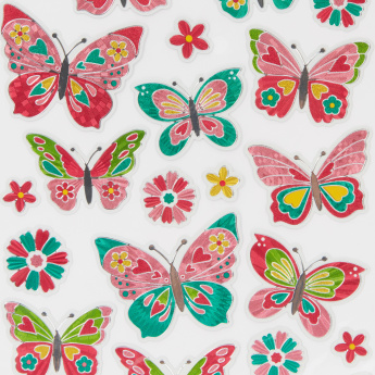 Multi Butterfly Hologram Sticker