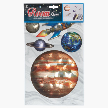 Space Printed Self-Adhesive Wall Decor
