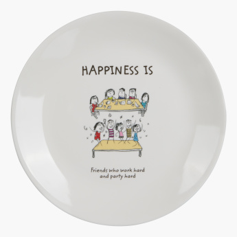 Happiness is Round Snack Plate - 22cm