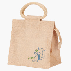 Printed Go Green Lunch Bag - Medium