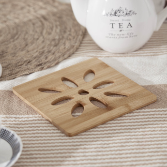 Bamboo Square Laser Cut Detail Placemat