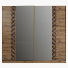 Burcham 2-Door Sliding Wardrobe with Mirror