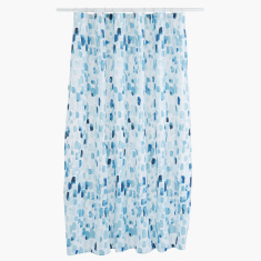 Breeze Printed Shower Curtain with 12 Hooks - 180x180 cms