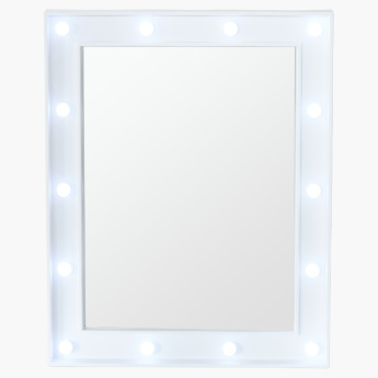 Rectangular Mirror with LED Lights