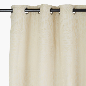 Breeze Textured Blackout Curtain Pair - 135x240 cms
