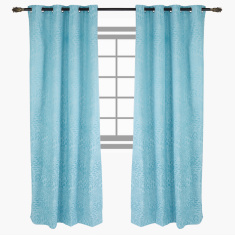 Breeze Printed Blackout Curtain Pair - 135x240 cms