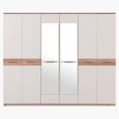 Moonlight 6-Door Wardrobe with 2 Mirrors