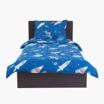 Space Printed 2-Piece Comforter Set - 220x135 cms