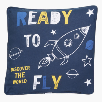 Space Printed Square Cushion - 40x40 cms