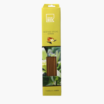 Tranquil Vanilla and Amber Incense Stick - Set of 40