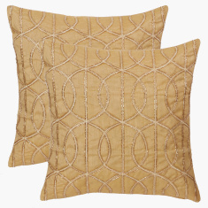 Celtic Embroidered Cushion Cover - 40x40 cms