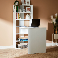 Joy Multi-Shelf Bookcase with Study Desk