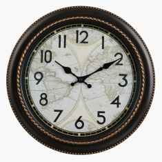 World Printed Round Wall Clock - 30 cms