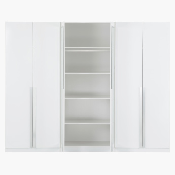Picasso 6-Door Wardrobe with 2 Mirrors