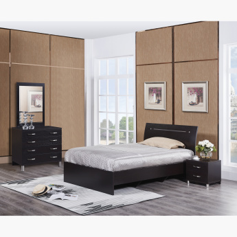 Apollo Twin Bed in MDF - 120x200 cms