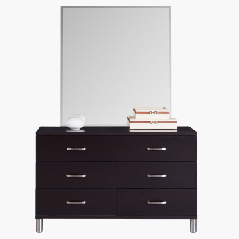 Apollo 6-Drawers Master Dresser in MDF without Mirror