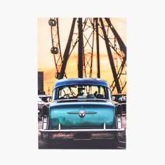 Vintage Car Printed Canvas Wall Decor