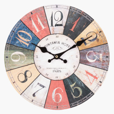 Dart Board Printed Round Wall Clock - 30 cms