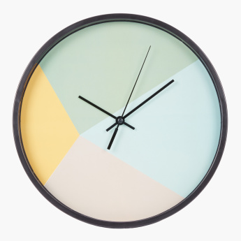 Egg Shell Round Wall Clock - 25 cms