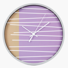 Ester Striped Wall Clock - 25 cms