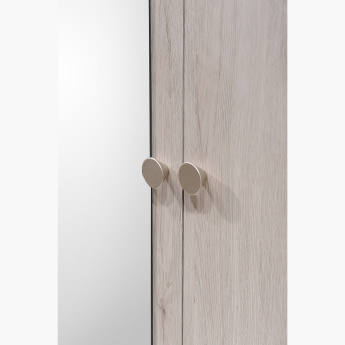 Etzy 4-Door Wardrobe with 2 Mirrors